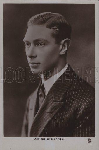HRH The Duke of York. Postcard, 20th century.