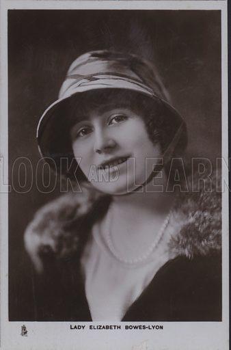 Lady Elizabeth Bowes-Lyon. Postcard, 20th century.