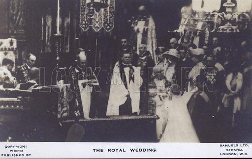 The royal wedding. Postcard, 20th century.