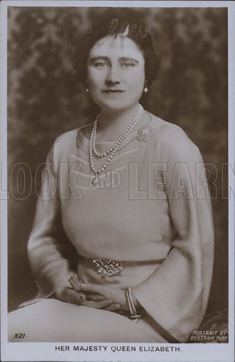 Her majesty Queen Elizabeth. Postcard, 20th century.