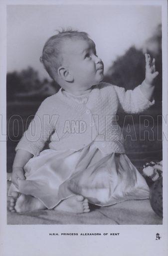 HRH Princess Alexandra of Kent. Postcard, 20th century.