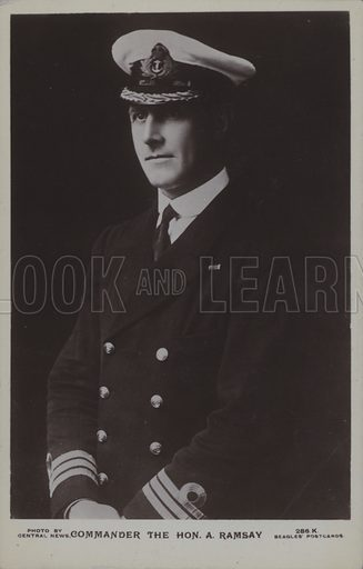 Commander The Hon A Ramsay. Postcard, 20th century.