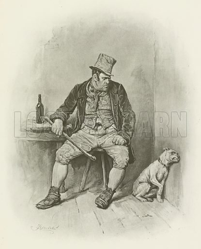 Bill Sikes. Illustration for Charles Dickens by Thomas Archer (Cassell, c 1890).