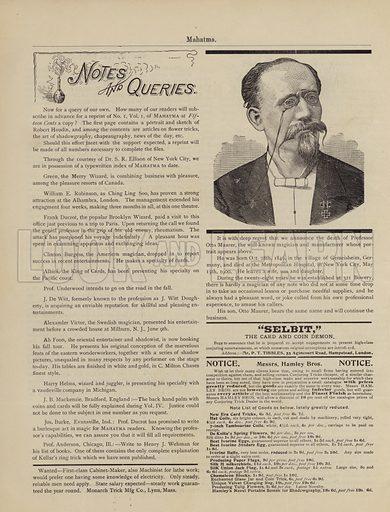 Professor Otto Maurer.  Page from Mahatma magazine, July 1900.