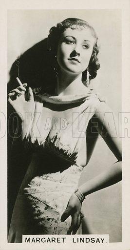 Margaret Lindsay. Illustration for cigarette card, early 20th century.