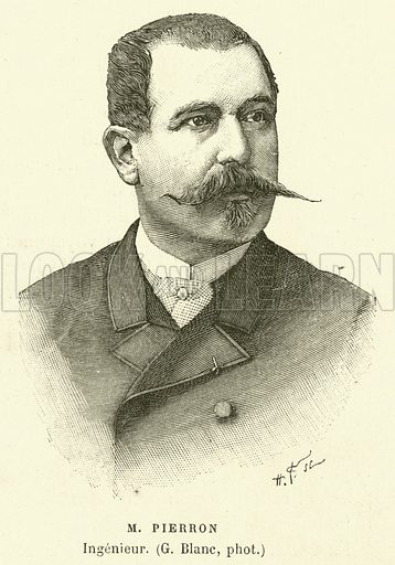 M Pierron, Ingenieur. Illustration for L'Exposition De Paris, 1889 (Librairie Illustree, 1889).