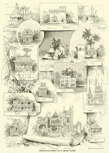 Constructions Edifiees par M Charles Garnier. Illustration for L'Exposition De Paris, 1889 (Librairie Illustree, 1889).