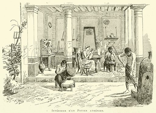 Interieur d'un Potier athenien. Illustration for L'Exposition De Paris, 1889 (Librairie Illustree, 1889).
