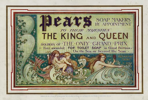 Advertisement for Pears Soap for the Coronation Number of The Gentlewoman, published in 1902.