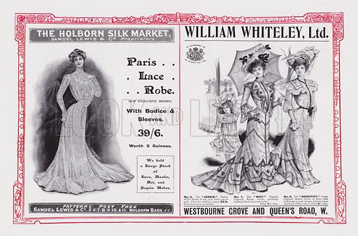 Page of advertisements for the Coronation Number of The Gentlewoman, published in 1902.