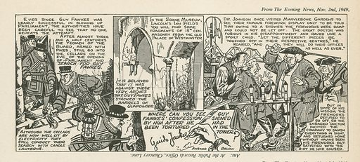 Comic strip published in London Is Stranger Than Fiction (c 1952). Copyright Associated Newspapers Ltd.