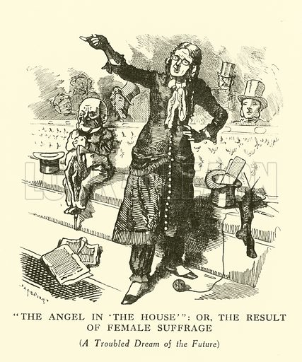 The Angel in the House, or the Result of Female Suffrage. Illustration for Mr Punch's History of Modern England by Charles L Graves (Cassell, 1922).