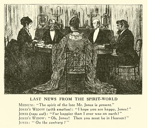 Last News from the Spirit-World. Illustration for Mr Punch's History of Modern England by Charles L Graves (Cassell, 1922).