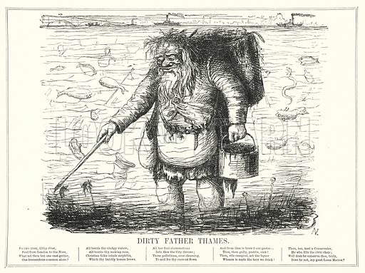 Punch cartoon: Dirty Father Thames