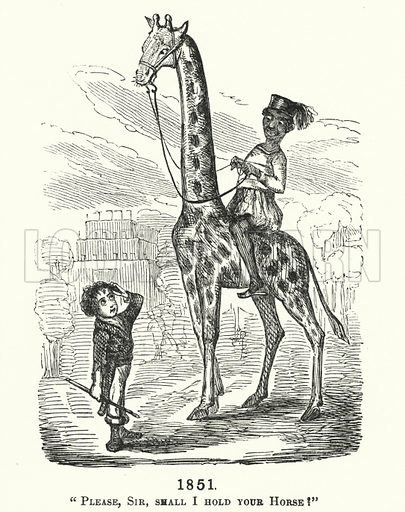 Punch cartoon: Great Exhibition of 1851. Illustration for Punch, Volume 20, January - June 1851.