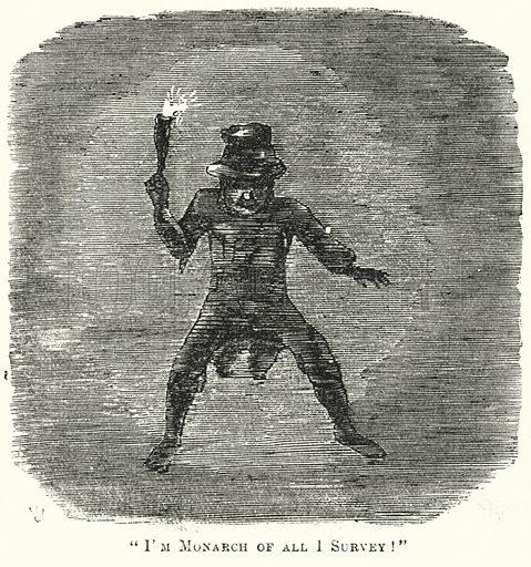Punch cartoon: I'm Monarch of All I Survey! Illustration for Punch, Volume 31, July – December 1856.