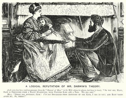 Punch cartoon: A Logical Refutation of Mr Darwin's Theory