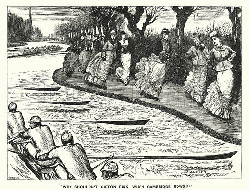 Punch cartoon: Why Shouldn't Girton Rink. When Cambridge Rows?