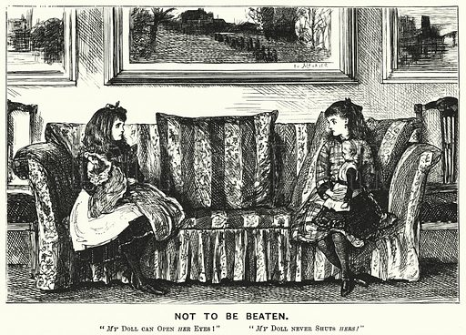 Punch cartoon: Not to Be Beaten. Illustration for Punch, Volume 72, January – June 1877.