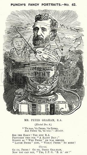 Punch cartoon: Peter Graham (1836-1921), Scottish artist. Illustration for Punch, Volume 81, July - December 1881.