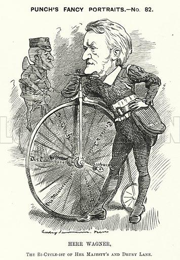 Punch cartoon: Richard Wagner, German composer