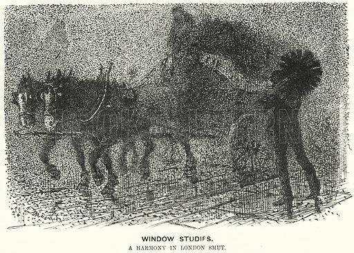 Punch cartoon: fog in Victorian London