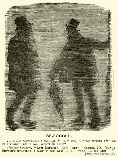 Be-fogged. Illustration for Punch, 14 February 1880.