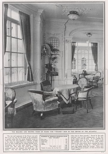 The reading and writing room on board the Titanic, now in the depths of the Atlantic