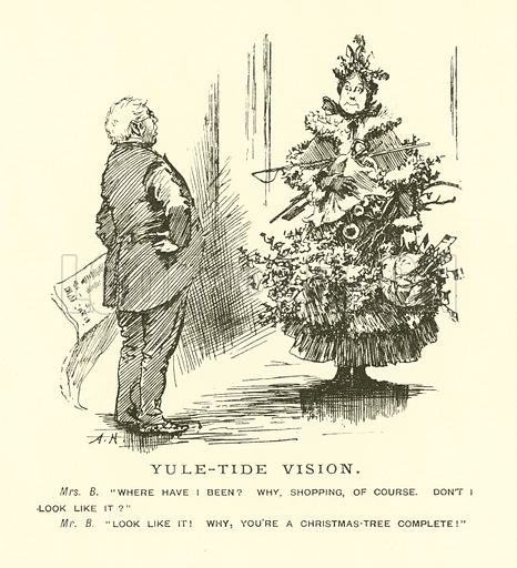 Yule-Tide Vision. Cartoon from Pictures from Punch (Bradbury, Agnew & Co, 1904).