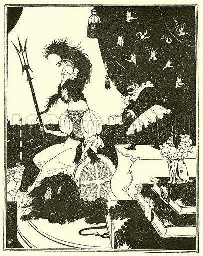 Britannia a la Beardsley.  How Punch satirised the Aubrey Beardsley vogue in the 1890s.