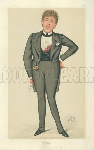 Mr Oscar Wilde, Oscar, 24 May 1884, Vanity Fair cartoon