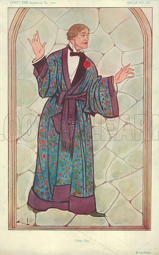 M Lou-Tellegen, Dorian Gray, 10 September 1913, Vanity Fair cartoon