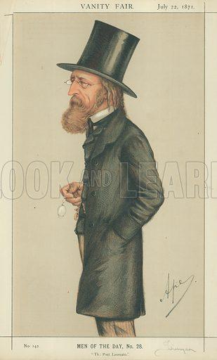 Alfred Tennyson, The Poet Laureate, 22 July 1871, Vanity Fair cartoon.