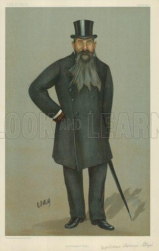 Mr Martinus Theunis Steyn, Ex-president Steyn, 9 August 1900, Vanity Fair cartoon