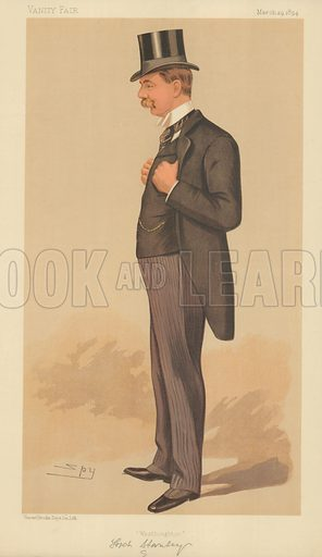 Lord Stanley MP, Westhoughton, 29 March 1894, Vanity Fair cartoon.