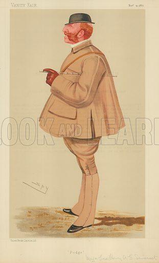 Major Lord Henry Arthur George Somerset, Podge, 19 November 1887, Vanity Fair cartoon