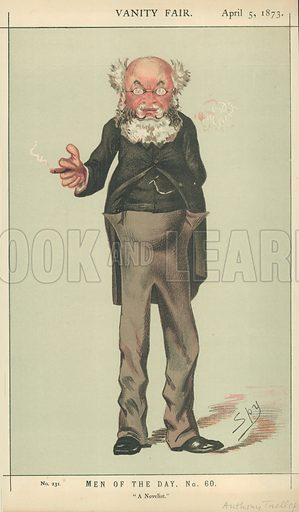 Mr Anthony Trollope, A novelist, 5 April 1873, Vanity Fair cartoon