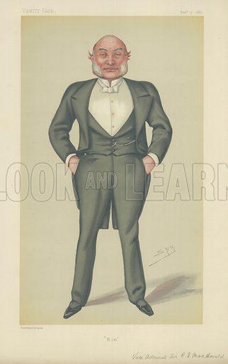 Vice Admiral Sir Reginald John Macdonald, Rim, 7 February 1880, Vanity Fair cartoon.