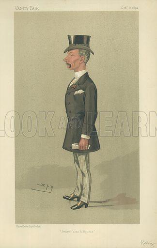 Mr John Seymour Keay, Prosy facts and figures, 8 October 1892, Vanity Fair cartoon.