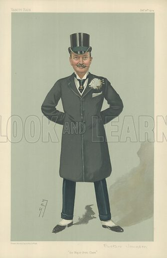 Major John Eustace-Jameson, The Major from Clare, 27 October 1904, Vanity Fair cartoon.