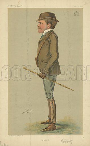 Lord George B Rodney, A pupil, 10 November 1888, Vanity Fair cartoon.