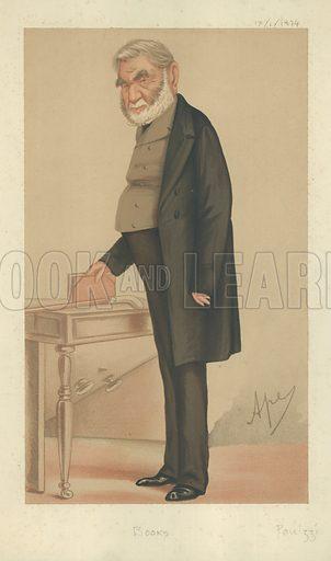 Sir Anthony Panizzi, Books, 17 January 1874, Vanity Fair cartoon.