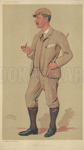 Mr Horace Gordon Hutchinson, Mr Horace Hutchinson, 19 July 1890, Vanity Fair, cartoon.