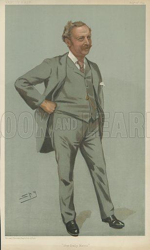 Mr E T Cook, The Daily News, 24 August 1899, Vanity Fair cartoon.