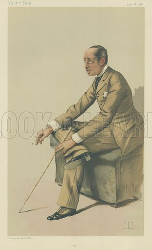 The Marquis of Blandford, B, 18 June 1881, Vanity Fair cartoon.