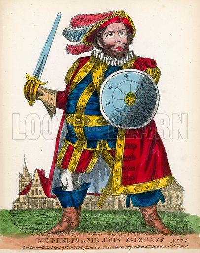 Mr Phelps as Sir John Falstaff