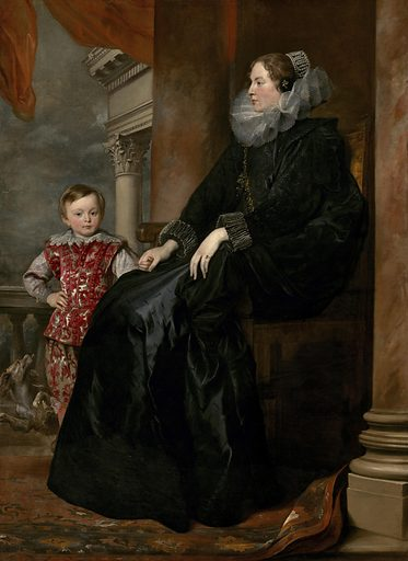 A Genoese Noblewoman and Her Son. Date: c 1626. Accession number: 1942.9.91.