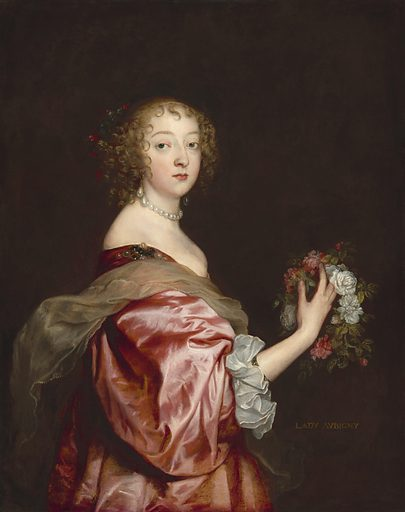 Catherine Howard, Lady d'Aubigny. Date: c 1638. Accession number: 1942.9.95.