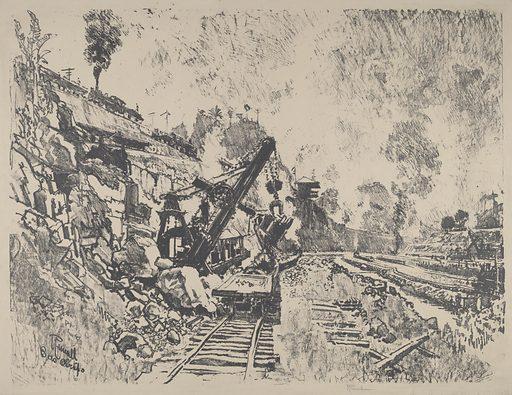Steam Shovel at Work in Culebra Cut. Date: 1912. Accession number: 1943.3.7291.