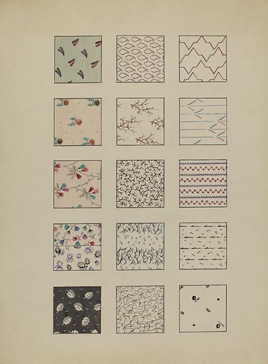 Printed Cottons. Date: c 1936. Accession number: 1943.8.879.